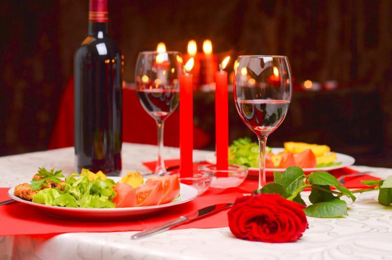 Романтический ужин на двоих.