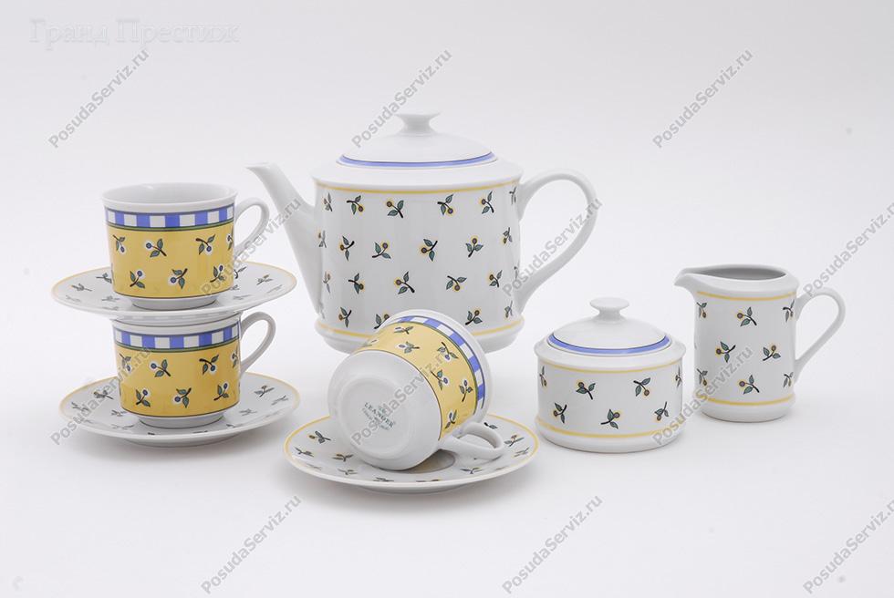 Фарфор чехия чайный сервиз чайный